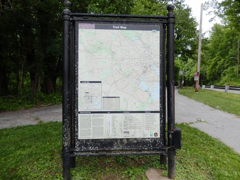 Gwynns Falls Trail Marker-Reverse side image. Click for full size.