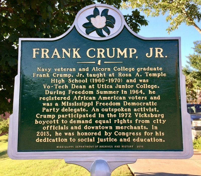 Frank Crump, Jr. Marker image. Click for full size.