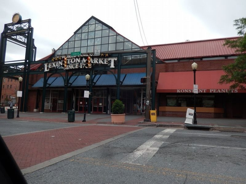 Lexington Market-left entrance image. Click for full size.