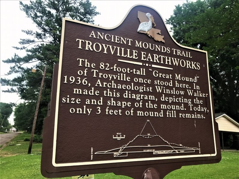 Troyville Earthworks Marker image. Click for full size.