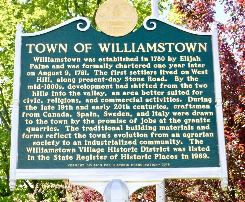 Town of Williamstown Marker image. Click for full size.