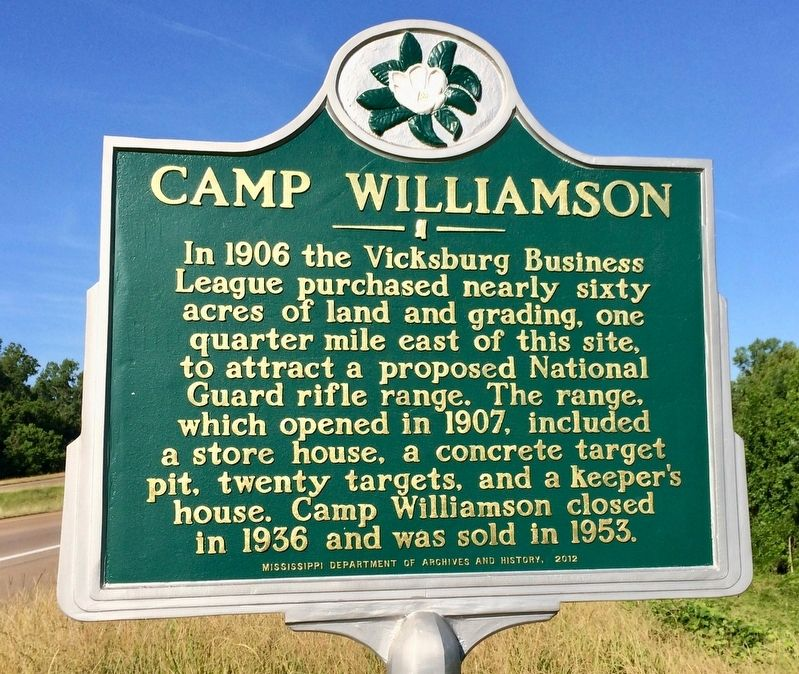 Camp Williamson Marker image. Click for full size.