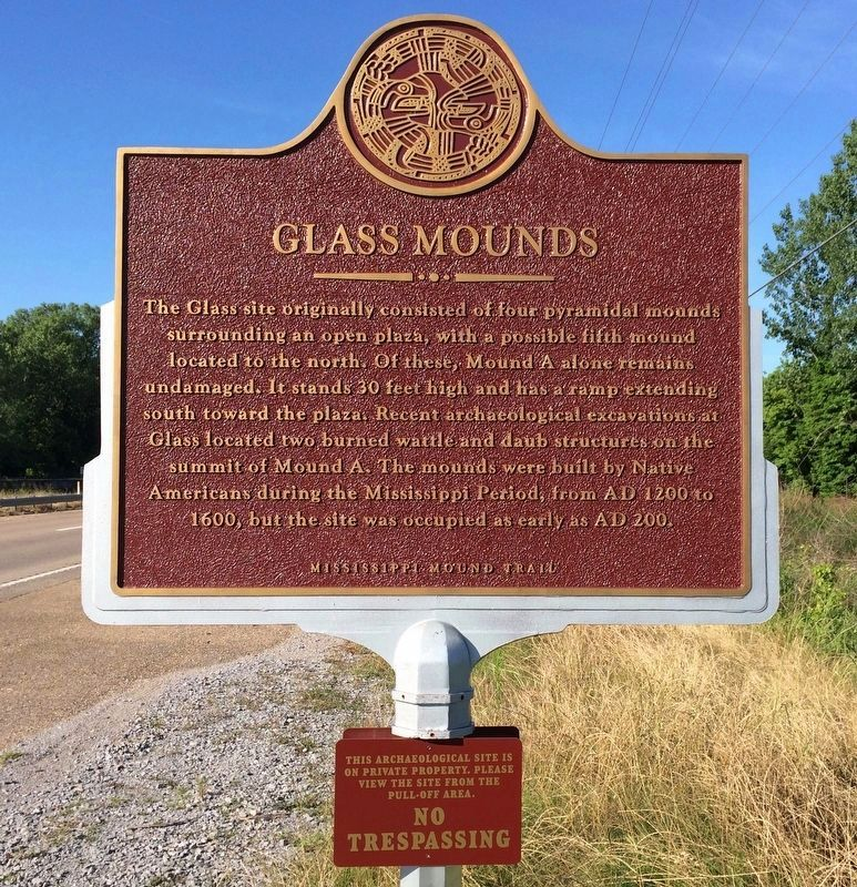 Glass Mounds Marker (Front) image. Click for full size.