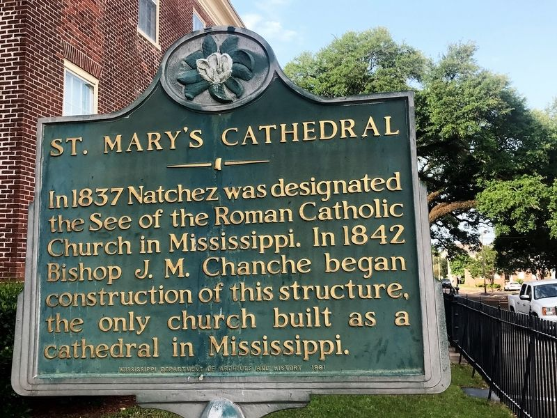 St. Mary's Cathedral Marker image. Click for full size.