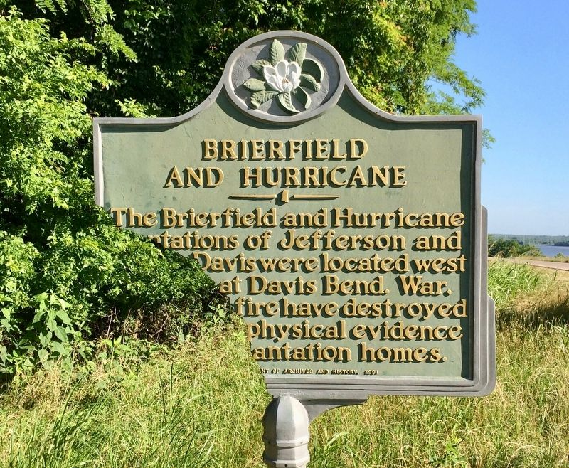 Brierfield and Hurricane Marker image. Click for full size.