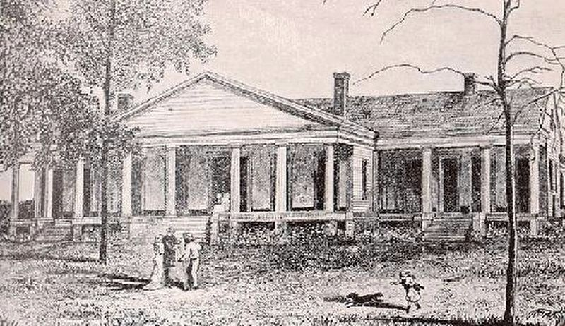 Brierfield Plantation home. image. Click for full size.