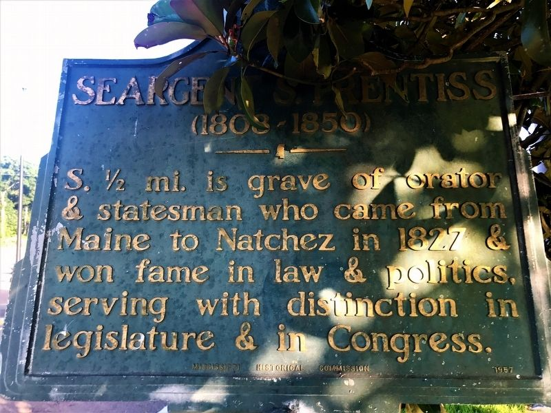 Seargent S. Prentiss Marker image. Click for full size.