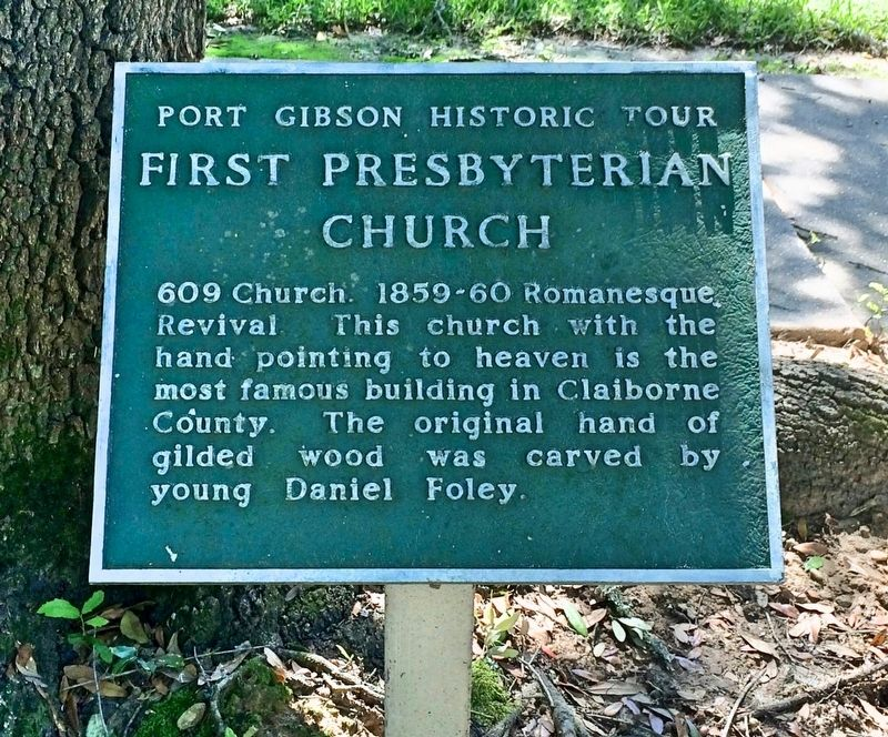 Another marker of the church, part of the Port Gibson Historic Tour. image. Click for full size.