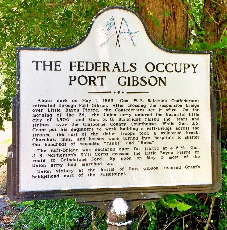 The Federals Occupy Port Gibson Marker image. Click for full size.