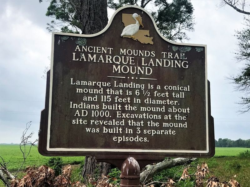 Lamarque Landing Mound Marker image. Click for full size.