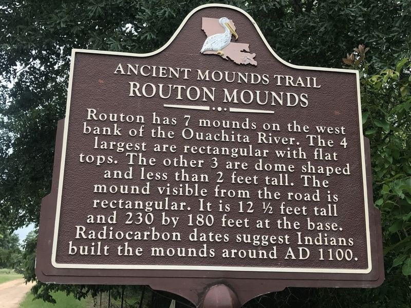 Routon Mounds Marker image. Click for full size.