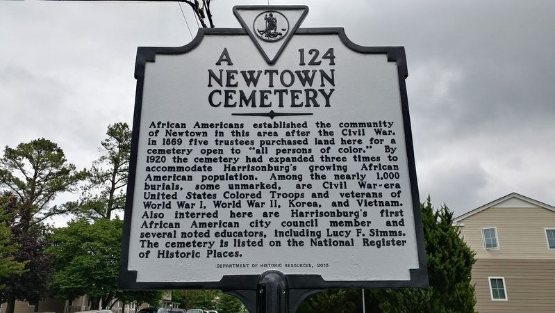 Newtown Cemetery Marker image. Click for full size.