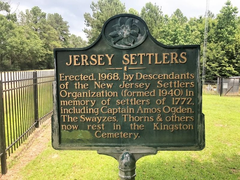 Jersey Settlers Marker image. Click for full size.