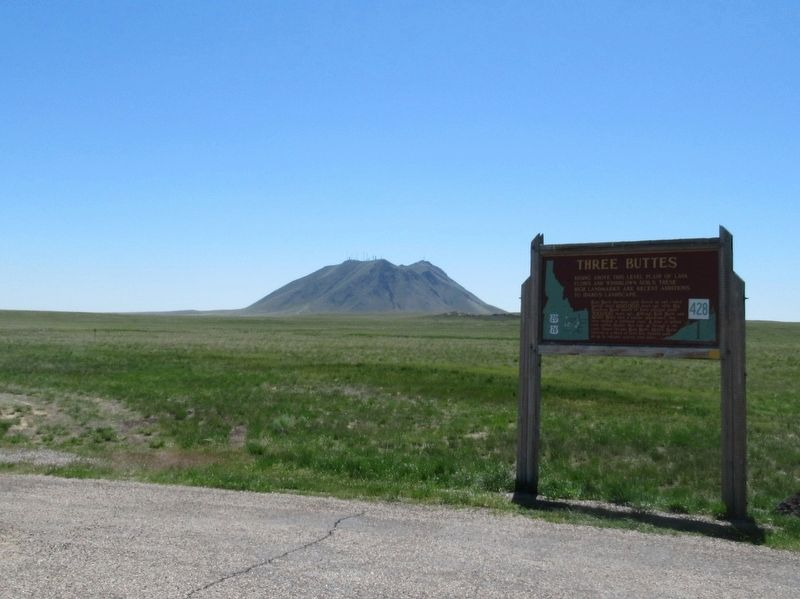 Three Buttes Marker image. Click for full size.