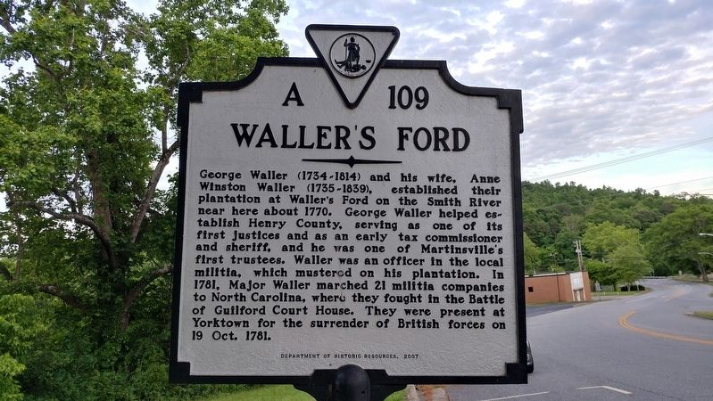 Waller's Ford Marker image. Click for full size.