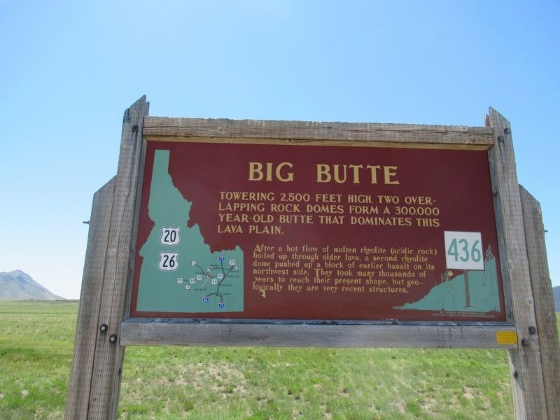 Big Butte Marker image. Click for full size.