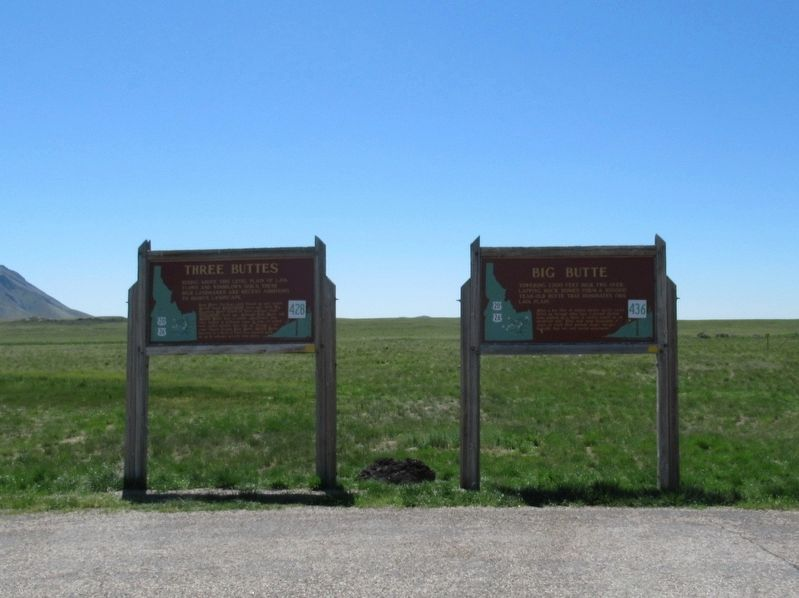 Three Buttes and Big Butte Markers image. Click for full size.
