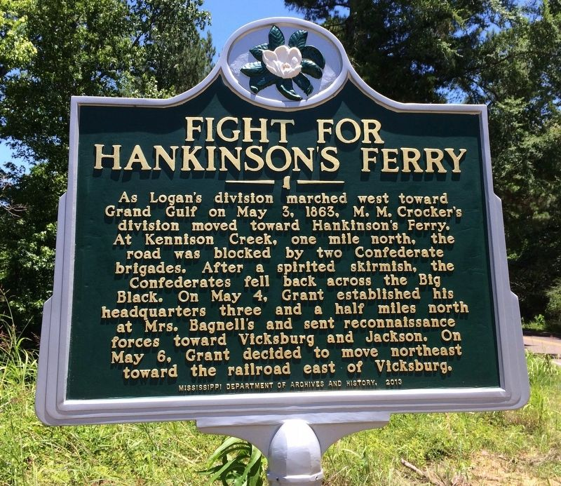 Fight for Hankinson's Ferry Marker image. Click for full size.