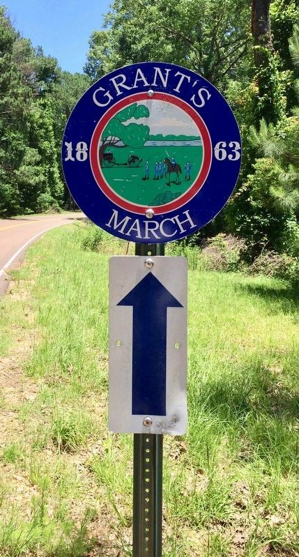 Grant's 1863 March up the Old Port Gibson Road image. Click for full size.