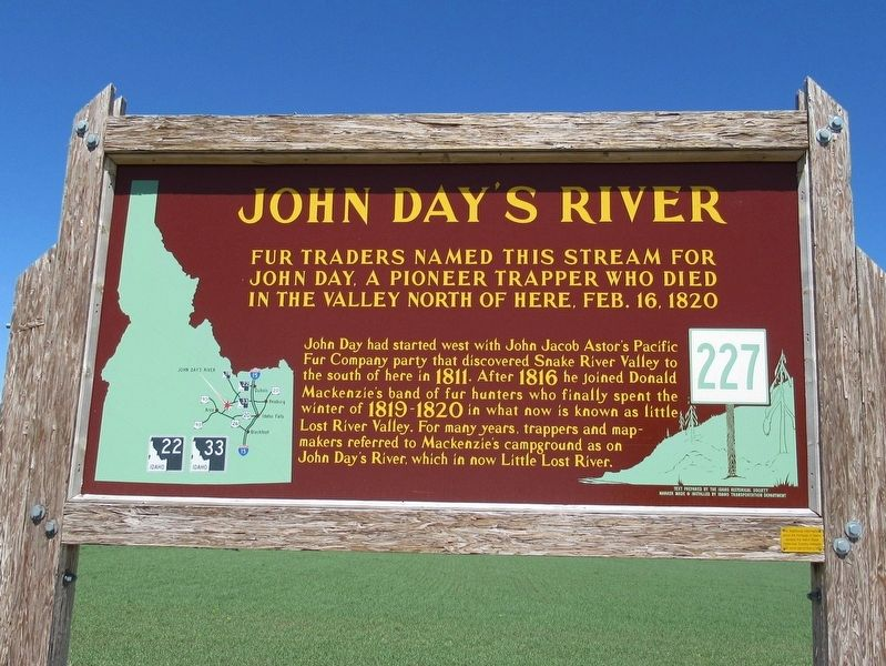 John Day's River Marker image. Click for full size.
