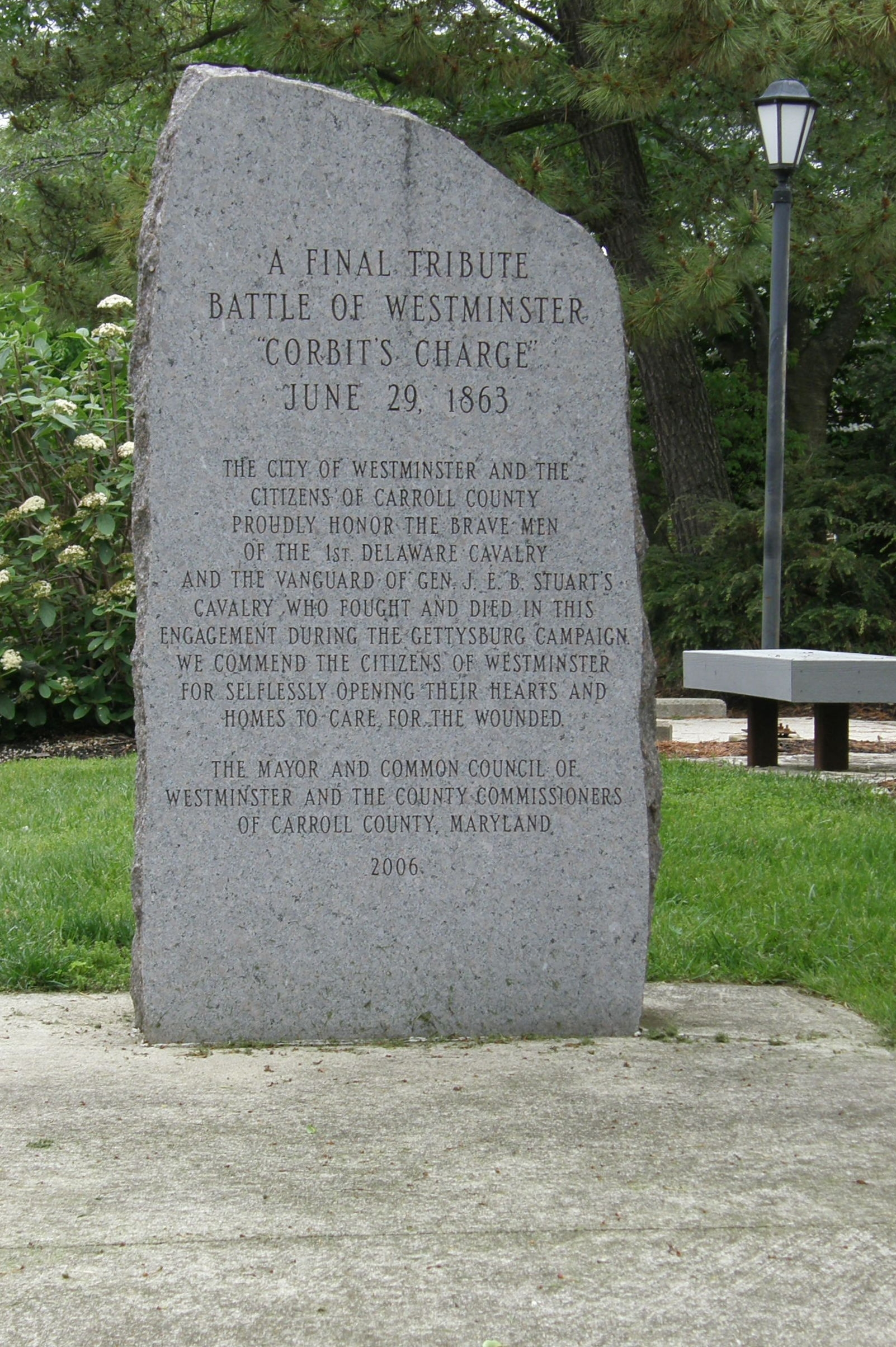 A Final Tribute Marker