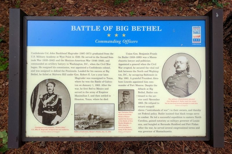 Battle of Big Bethel Marker image. Click for full size.