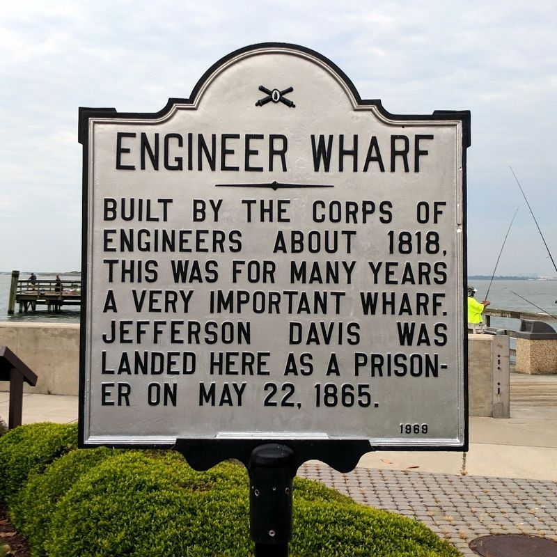 Engineer Wharf Marker image. Click for full size.