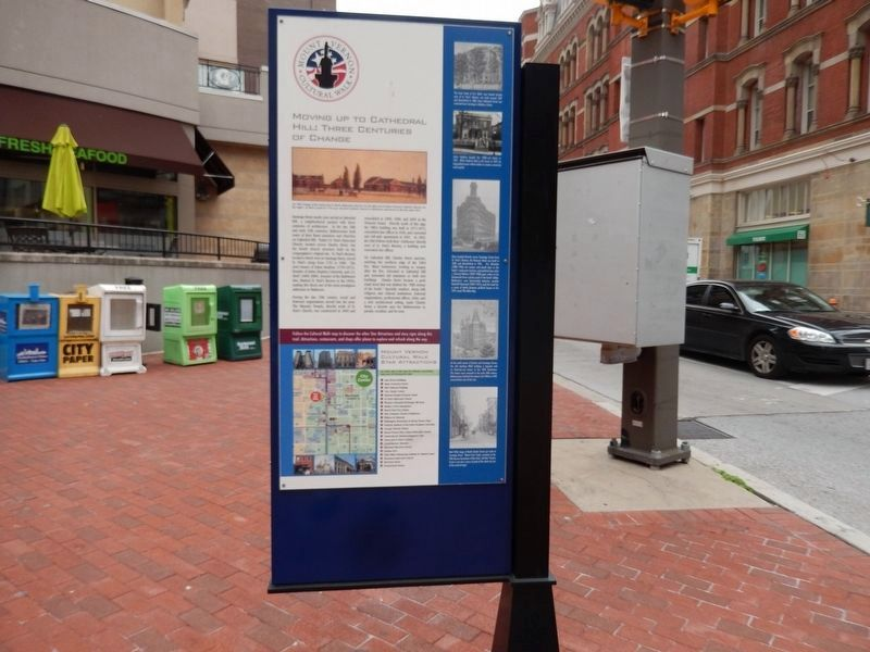 Moving Up To Cathedral Hill: Three Centuries of Change Marker-Front side image. Click for full size.