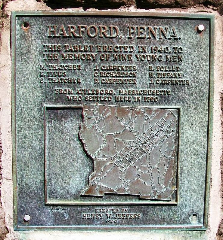 Harford, Penna. Marker image. Click for full size.