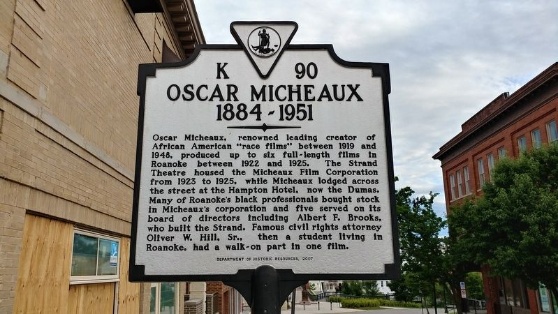 Oscar Micheaux Marker image. Click for full size.