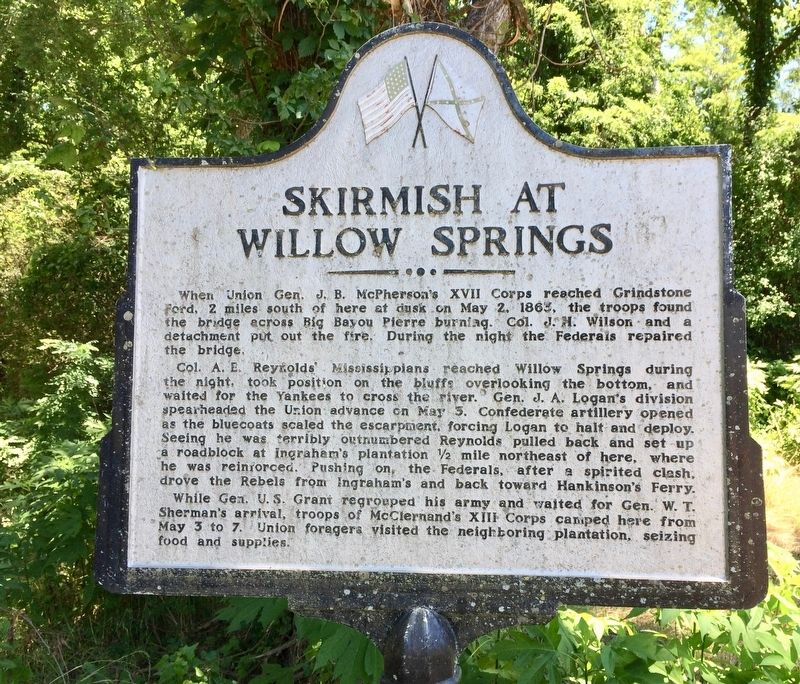 Skirmish at Willow Springs Marker image. Click for full size.