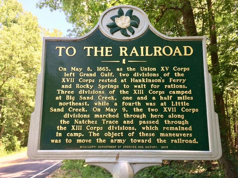 To The Railroad Marker image. Click for full size.