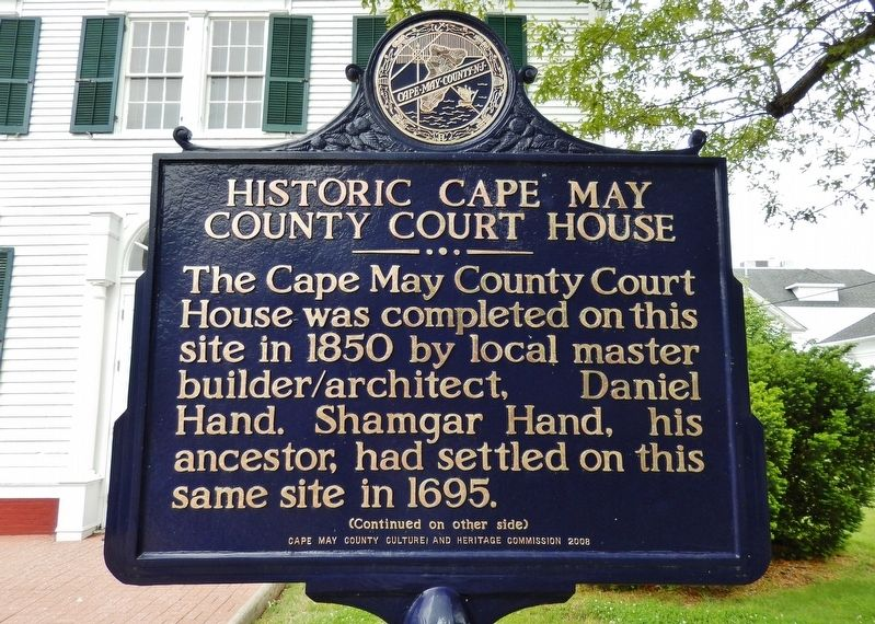 Historic Cape May County Court House Marker image. Click for full size.