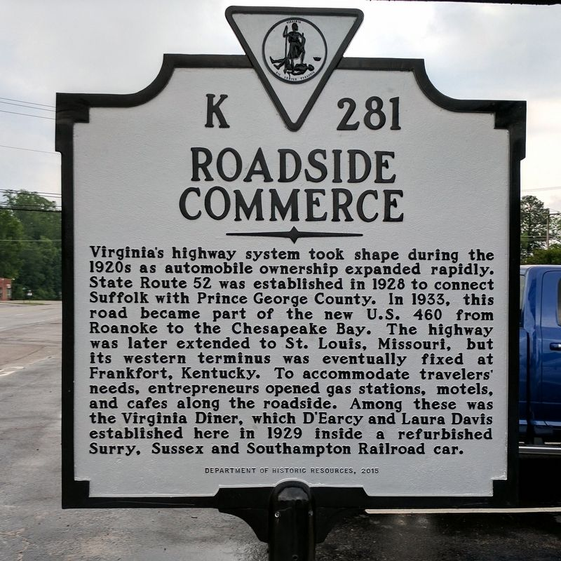Roadside Commerce Marker image. Click for full size.