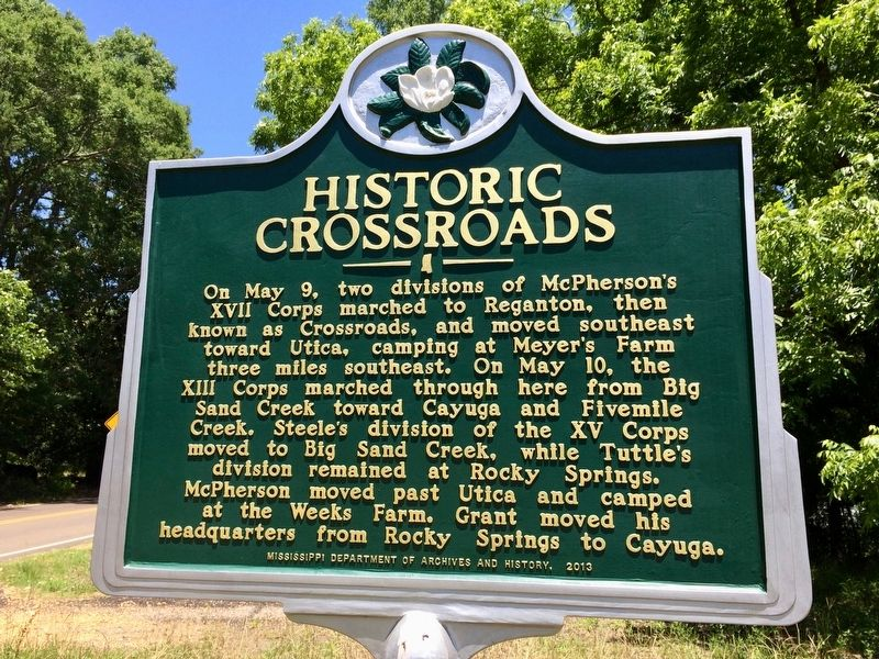 Historic Crossroads Marker image. Click for full size.