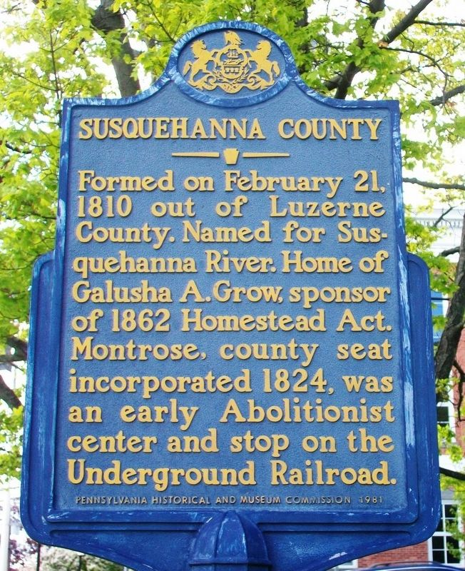Susquehanna County Marker image. Click for full size.