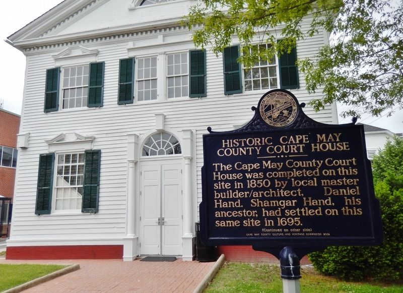 Historic Cape May County Court House Marker (wide view) image. Click for full size.