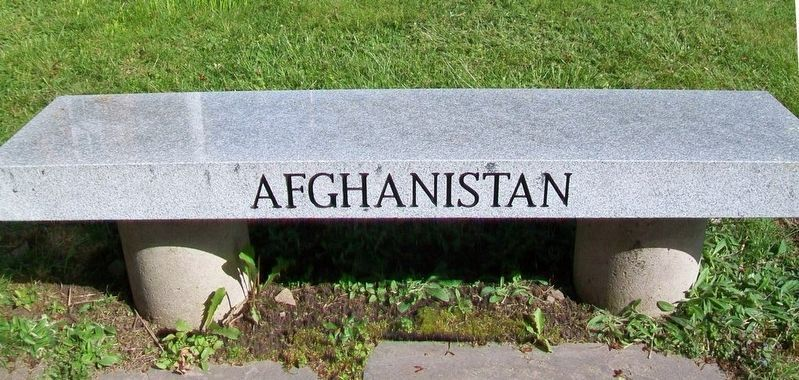War Memorial Afghanistan Bench image. Click for full size.