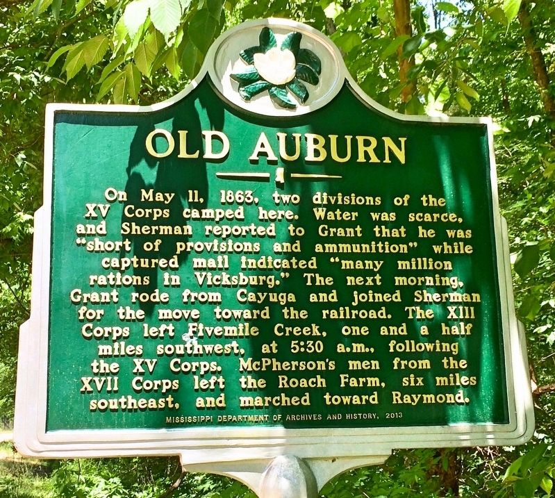 Old Auburn Marker image. Click for full size.