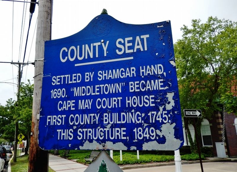 County Seat Marker image. Click for full size.