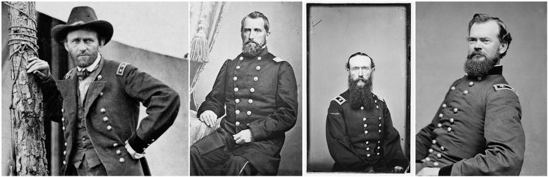 Union General's U.S. Grant, James Tuttle, Frederick Steel & James McPherson image. Click for full size.