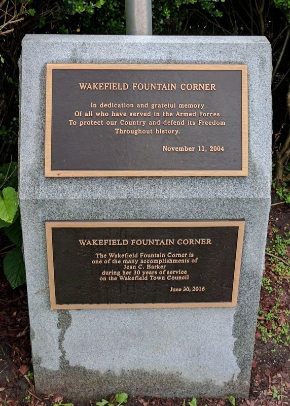 Wakefield Fountain Corner Memorial image. Click for full size.