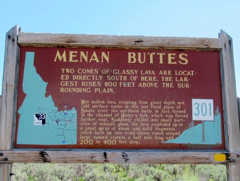 Menan Buttes Marker image. Click for full size.