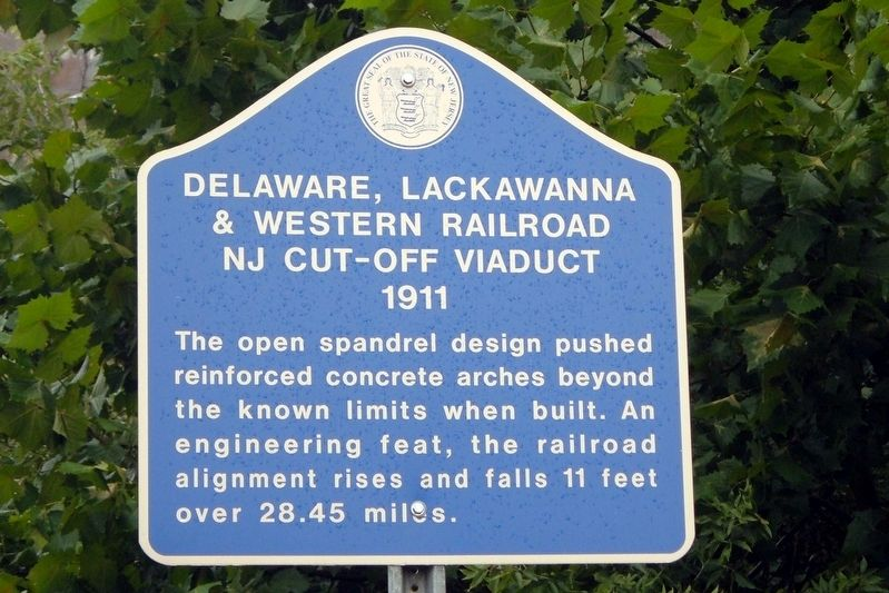 Delaware, Lackawanna and Western Railroad Marker image. Click for full size.