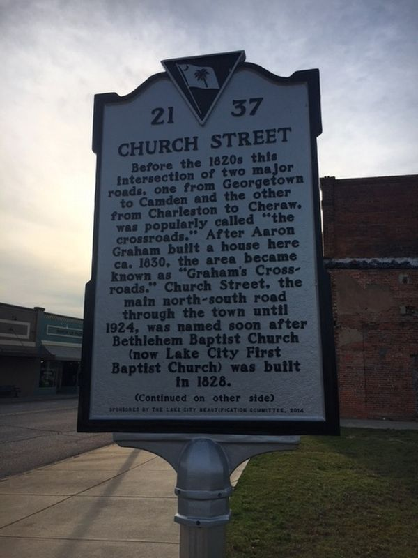 Church Street/Main Street Marker image. Click for full size.