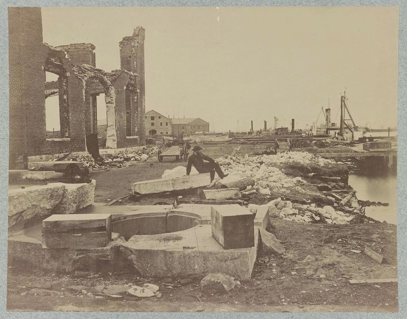 Ruins of Norfolk Navy Yard image. Click for full size.