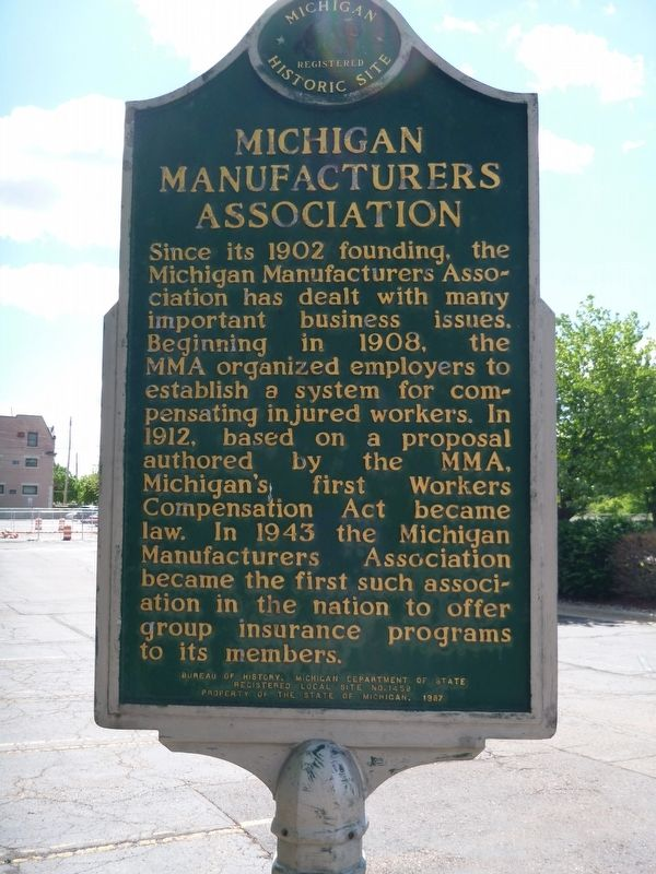 Michigan Manufacturer's Association Marker image. Click for full size.