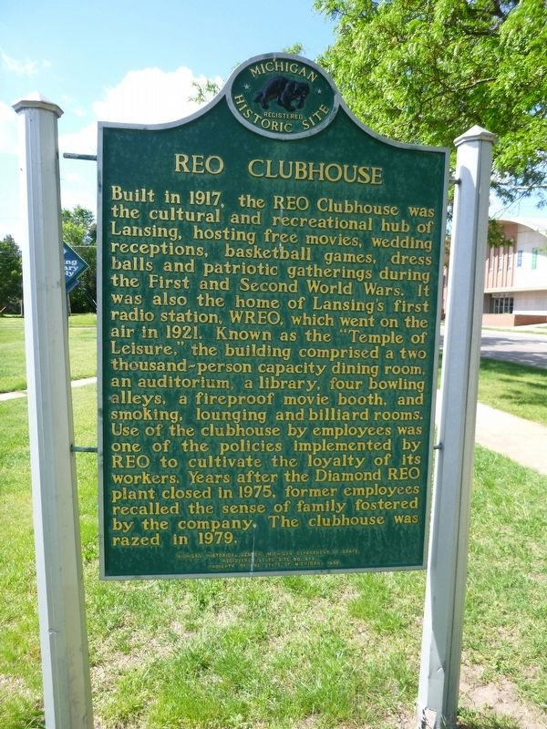 REO Clubhouse Marker image. Click for full size.