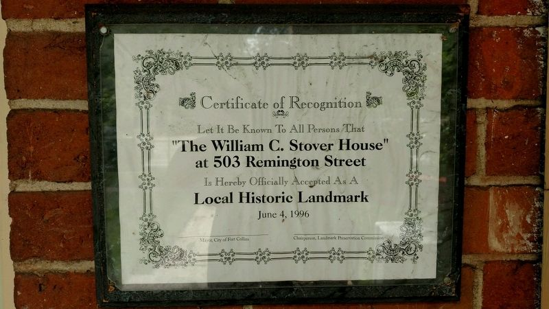 The William C Stover House Marker image. Click for full size.