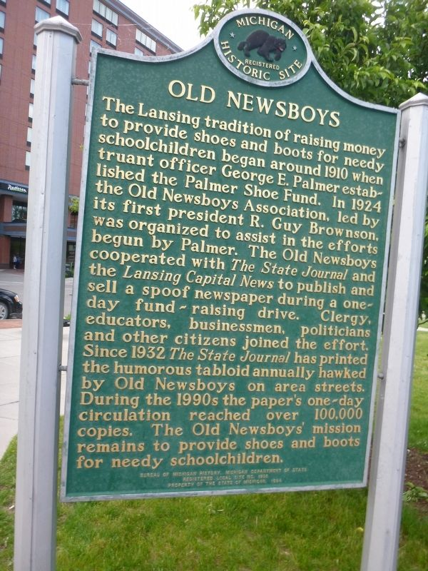 Old Newsboys Marker image. Click for full size.